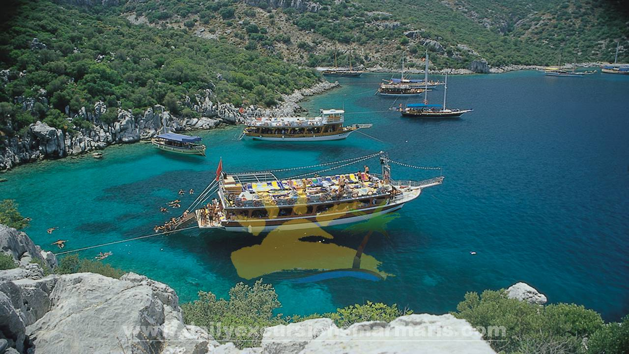 Marmaris all inclusive boat, Boat trip in Marmaris Turkey